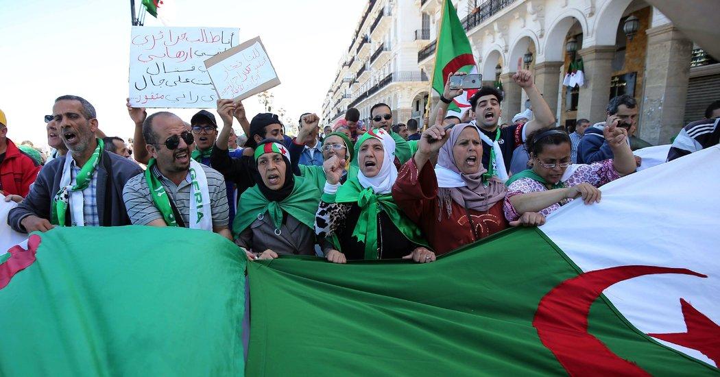 algeria-Protesters