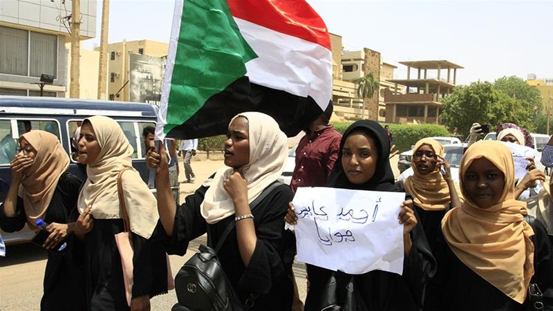 Students protest in Khartoum